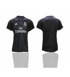 2018-19 Real Madrid Black Goalkeeper Thailand Soccer Jersey