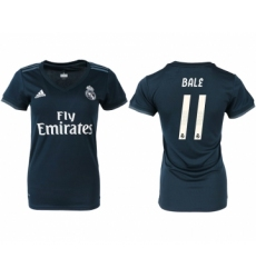 2018-19 Real Madrid 11 BALE Away Women Soccer Jersey