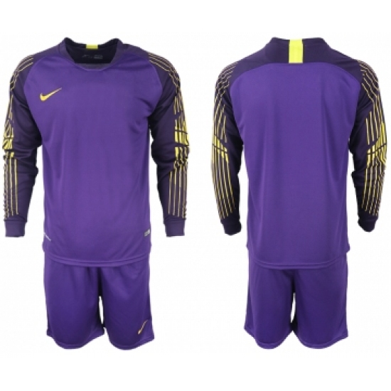 2018-19 USA Purple Goalkeeper Long Sleeve Soccer Jersey