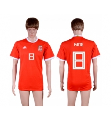 2018-19 Wales 8 KING Home Thailand Soccer Jersey