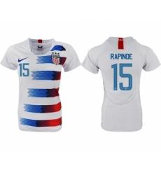 2018-19 USA 15 RAPINOE Home Women Soccer Jersey