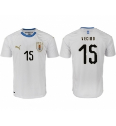Uruguay 15 VECINO Away 2018 FIFA World Cup Thailand Soccer Jerse
