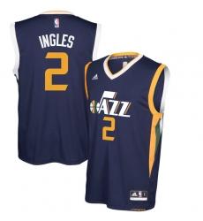 Utah Jazz #2 Joe Ingles Navy Blue New Swingman Road Jerse