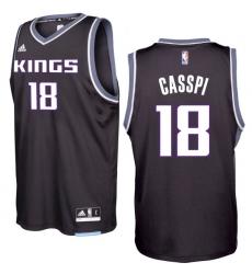 Sacramento Kings #18 Omri Casspi 2016-17 Seasons Black Alternate New Swingman Jersey