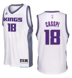 Sacramento Kings #18 Omri Casspi 2016-17 Seasons White Home New Swingman Jersey
