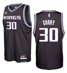 Sacramento Kings #30 Seth Curry 2016-17 Seasons Black Alternate New Swingman Jersey