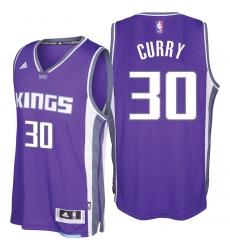 Sacramento Kings #30 Seth Curry 2016-17 Seasons Purple Road New Swingman Jersey