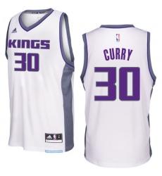 Sacramento Kings #30 Seth Curry 2016-17 Seasons White Home New Swingman Jersey