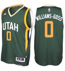Utah Jazz #0 Nigel Williams-Goss Alternate Green New Swingman Stitched NBA Jersey