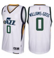 Utah Jazz #0 Nigel Williams-Goss Home White New Swingman Stitched NBA Jersey