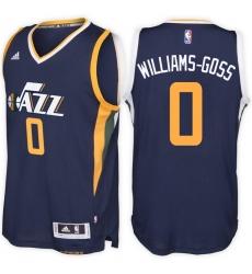 Utah Jazz #0 Nigel Williams-Goss Road Navy New Swingman Stitched NBA Jersey