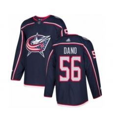 Men's Columbus Blue Jackets #56 Marko Dano Authentic Navy Blue Home Hockey Jersey