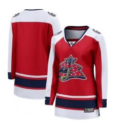 Women's Columbus Blue Jackets Fanatics Branded Blank Red 2020-21 Special Edition Breakaway Jersey