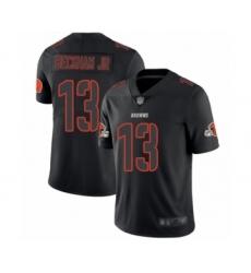 Men's Cleveland Browns #13 Odell Beckham Jr. Limited Black Rush Impact Football Jersey