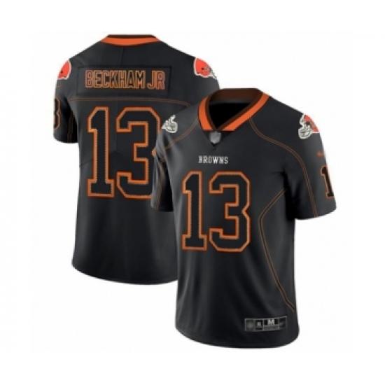 Men's Cleveland Browns #13 Odell Beckham Jr. Limited Lights Out Black Rush Football Jersey