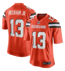 Men's Cleveland Browns #13 Odell Beckham Jr Nike Orange Game Jersey