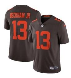 Nike Cleveland Browns #13 Odell Beckham Jr. Men's Brown Alternate 2020 Vapor Limited Jersey