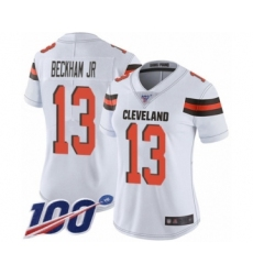 Women's Cleveland Browns #13 Odell Beckham Jr. White 100th Season Vapor Untouchable Limited Player Football Jersey
