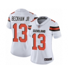 Women's Odell Beckham Jr. Limited White Nike Jersey NFL Cleveland Browns #13 Road Vapor Untouchable