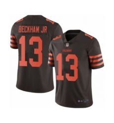Youth Odell Beckham Jr. Limited Brown Nike Jersey NFL Cleveland Browns #13 Rush Vapor Untouchable