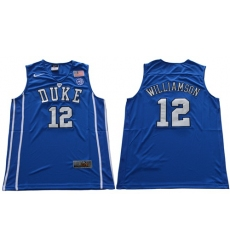 Duke Blue Devils #12 Zion Williamson Royal Blue Basketball Elite Stitched NCAA Jersey