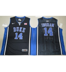 Duke Blue Devils #14 Brandon Ingram Black Basketball Elite V Neck Stitched NCAA Jersey
