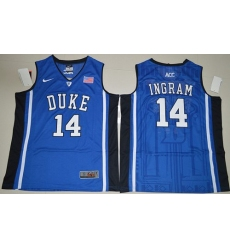 Duke Blue Devils #14 Brandon Ingram Royal Blue Basketball Elite V Neck Stitched NCAA Jersey