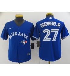 Youth Nike Toronto Blue Jays #27 Vladimir Guerrero Jr. Replica Blue Alternate Baseball Jersey