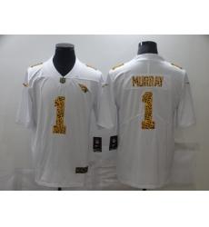 Men's Arizona Cardinals #1 Kyler Murray White Nike Leopard Print Limited Jersey