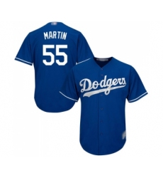 Men's Los Angeles Dodgers #55 Russell Martin Replica Royal Blue Alternate Cool Base Baseball Jersey