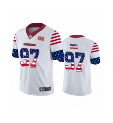 Men's San Francisco 49ers #97 Nick Bosa White Independence Day Limited Football Jersey