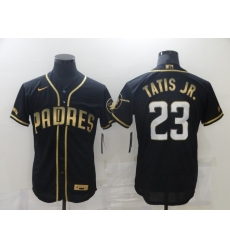 Men's San Diego Padres #23 Fernando Tatis Jr. Black Gold Realtree Collection Jersey
