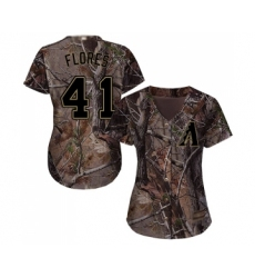 Women's Arizona Diamondbacks #41 Wilmer Flores Authentic Camo Realtree Collection Flex Base Baseball Jersey