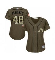 Women's Arizona Diamondbacks #48 Abraham Almonte Authentic Green Salute to Service Baseball Jersey
