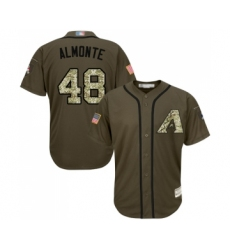 Youth Arizona Diamondbacks #48 Abraham Almonte Authentic Green Salute to Service Baseball Jersey