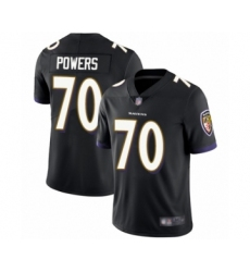 Men's Baltimore Ravens #70 Ben Powers Black Alternate Vapor Untouchable Limited Player Football Jersey