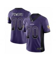 Men's Baltimore Ravens #70 Ben Powers Limited Purple Rush Drift Fashion Football Jersey