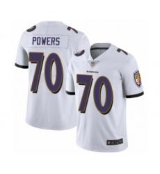 Men's Baltimore Ravens #70 Ben Powers White Vapor Untouchable Limited Player Football Jersey