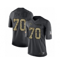 Youth Baltimore Ravens #70 Ben Powers Limited Black 2016 Salute to Service Football Jersey