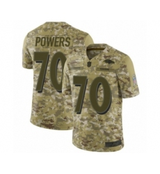 Youth Baltimore Ravens #70 Ben Powers Limited Camo 2018 Salute to Service Football Jersey
