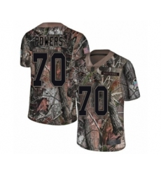 Youth Baltimore Ravens #70 Ben Powers Limited Camo Rush Realtree Football Jersey