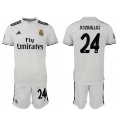 Atletico Madrid #22 Nico Gaitan Home Long Sleeves Soccer Club Jersey