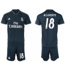 Atletico Madrid #24 J.M.Gimenez Home Long Sleeves Soccer Club Jersey
