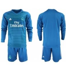 Atletico Madrid Blank Red Goalkeeper Long Sleeves Soccer Club Jersey