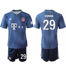Bayern Munchen #29 Coman Third Soccer Club Jersey