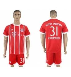 Bayern Munchen #31 Schweinsteiger Home Soccer Club Jersey