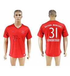 Bayern Munchen #31 Schweinsteiger Marine Environmental Protection Home Soccer Club Jersey