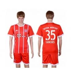 Bayern Munchen #35 Sanches Home Soccer Club Jersey