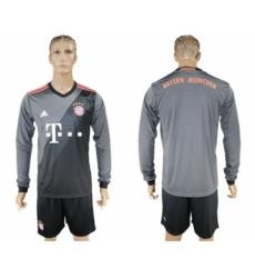 Bayern Munchen Blank Away Long Sleeves Soccer Club Jersey