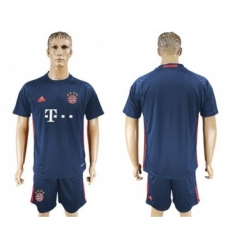 Bayern Munchen Blank Dark Blue Goalkeeper Soccer Club Jersey